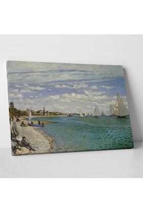 Claude Monet Regatta at Sainte-Adresse Kanvas Tablo 30 x 20 cm