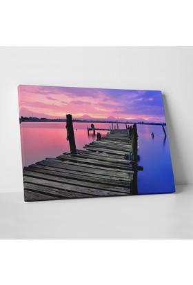 Anonim Günbatımı Göl Manzarası Kanvas Tablo 30 x 20 cm