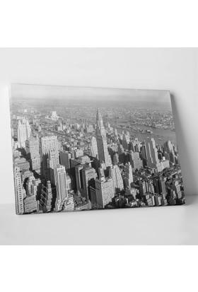 Anonim Newyork Siyah Beyaz Kanvas Tablo 30 x 20 cm