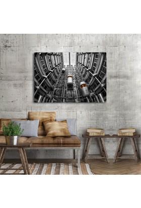 Anonim Asansörler Siyah Beyaz Kanvas Tablo 30 x 20 cm