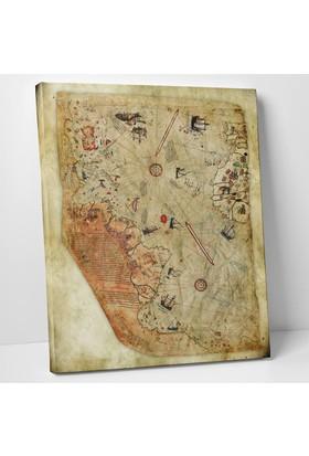 Anonim Piri Reis Dünya Haritası Kanvas Tablo 30 x 40 cm