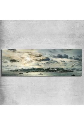 Anonim İstanbul Tarihi Yarımada Kanvas Tablo 60 x 20 cm