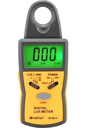 Holdperak Hp-881A Lüxmetre Işık Ölçer