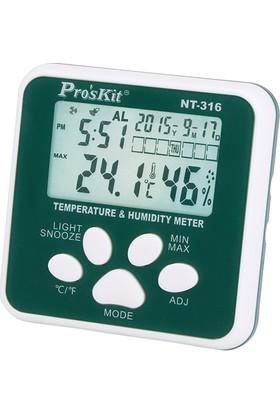 Proskit Nt-316 Sıcaklık & Nem Ölçer -50/+70°