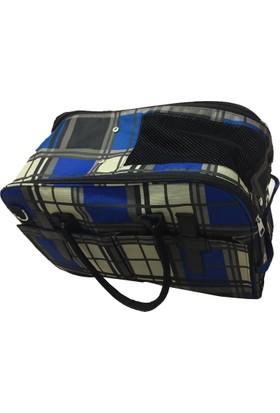 Filos Köpek Taşıma Mavi Kareli Renk Çanta