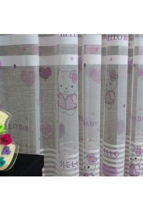 Brillant Tül Perde Hello Baby 1/2 Seyrek Pile - Boy 250