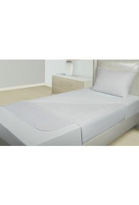 Akomp Anti Bakteriyel Sıvı Geçirmez Pamuk Yatak Koruyucu Hasta Altı Bezi Beyaz Kanatlı 090x090