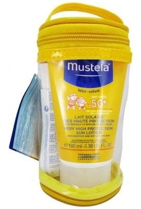 MUSTELA Lait Solaire 50+ 50 ml KOFRE PAKETİ - SPF 50+ Koruma Faktörlü Güneş Sütü