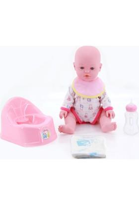 Birlik Oyuncak Çişini Yapan Lazımlıklı Sesli Bebek Pembe