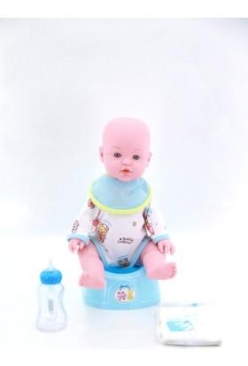 Birlik Oyuncak Çişini Yapan Lazımlıklı Sesli Bebek Mavi