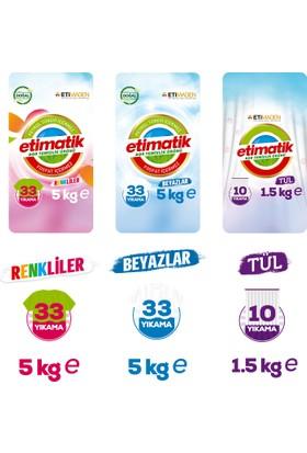 Etimatik Renkliler 5 Kg + Beyazlar 5 Kg + Tül 1,5 Kg