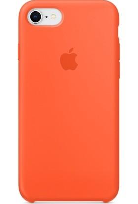 Graytiger Apple iPhone 8 Turuncu Silikon Kılıf Kauçuk Arka Kapak