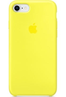 Graytiger Apple iPhone 8 Sarı Silikon Kılıf Kauçuk Arka Kapak