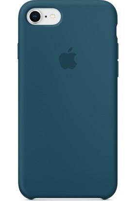Graytiger Apple iPhone 8 Kozmoz Mavisi Silikon Kılıf Kauçuk Arka Kapak