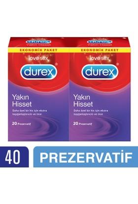 Durex Yakın Hisset (İnce Prezervatif) 40'lı Avantaj Paketi - Yeni
