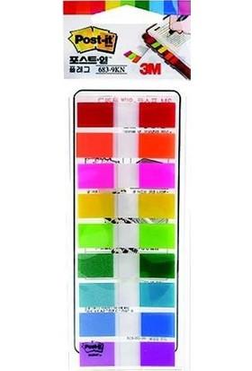 3M Post-it® Index, 9 renk x 10 yaprak