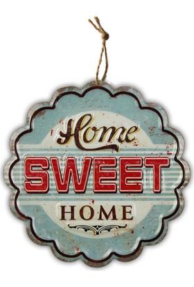 Virago Home Décor Home Sweet Home Metal Retro Tablo