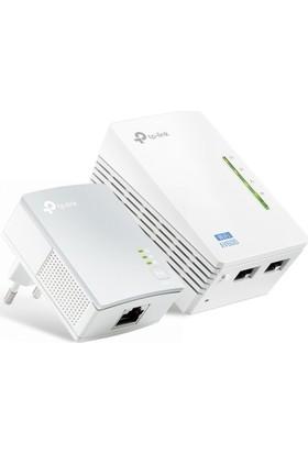 TP-LINK TL-WPA4220KIT AV600 300 Mbps Kablosuz Tak Kullan 2 LAN Portlu 300 Metre Mesafeli Menzil Genişletici Powerline Adaptör