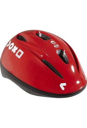 Btwin Bisiklet Kaskı Çocuk Kırmızı 47 / 53 Cm