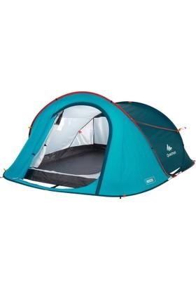 Quechua 3 Kişilik Mavi 2 Seconds Kamp Çadırı