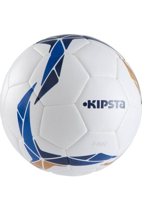 Kipsta F500 Hibrit Futbol Topu 5 Numara Beyaz - Mavi - Kahverengi