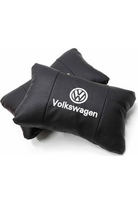 Simoni Racing Volkswagen Logolu Ortopedik Deri Boyun Yastığı