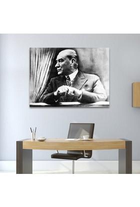 Çerçevelet Atatürk Siyah Beyaz 30 x 25 cm