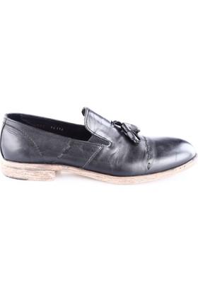 Luciano Bellini Erkek 14116 Soft Püsküllü Ayakkabı Siyah