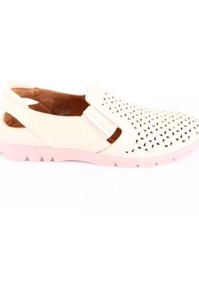 Beety Kadın 14152 Lazerli Günlük Ayakkabı Bej