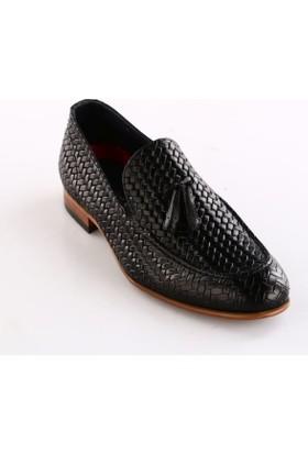 Luciano Bellini Erkek 150015 Microlite Hasır Baskılı Soft Ayakkabı Siyah Baskılı