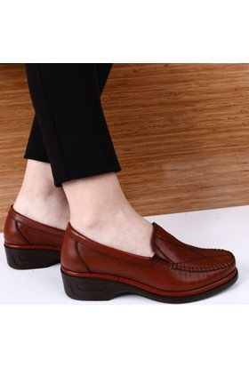 Dgn Kadın 1702 Deri Anatomic Footwear Ayakkabı Taba