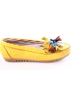Dgn Kadın 170401 Püsküllü Babet Yellow