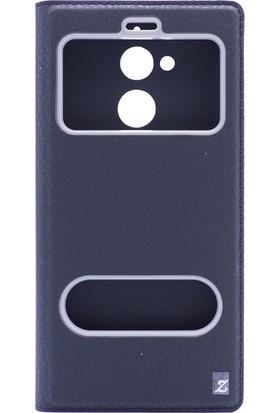 Gpack General Mobile GM8 Pencereli Dolce Kılıf Siyah + Ekran Koruyucu Cam + Kalem