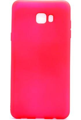 Gpack Samsung Galaxy C9 Pro Premier Silikon Kılıf - Pembe
