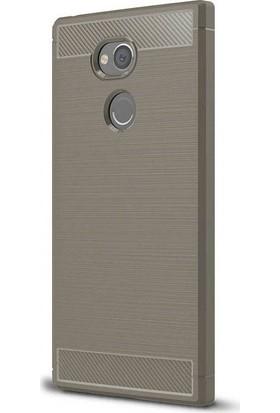 Gpack Sony Xperia L2 Silikon Room Kılıf Bej + Ekran Koruyucu Cam + Kalem