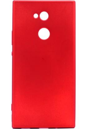 Gpack Sony Xperia XA2 Premier Silikon Kılıf Kırmızı + Ekran Koruyucu Cam + Kalem