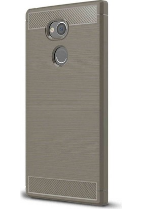 Gpack Sony Xperia XA2 Silikon Room Kılıf Bej + Ekran Koruyucu Cam