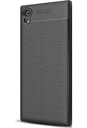 Gpack Sony Xperia XA1 Plus Silikon Niss Kılıf Siyah + Ekran Koruyucu Cam + Kalem