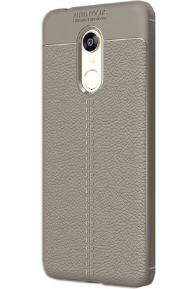 Gpack Xiaomi Redmi 5 Niss Silikon Niss Kılıf - Bej