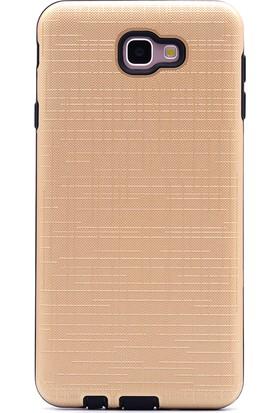 Gpack Samsung Galaxy J7 Prime New Youyou Silikon Kılıf Gold + Ekran Koruyucu Cam