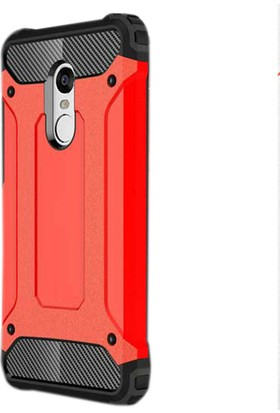 Gpack Xiaomi Redmi 5 Çift Katmanlı Crash Kılıf - Kırmızı