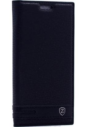 Gpack Asus Zenfone Live Elite Kapaklı Kılıf Siyah + Ekran Koruyucu Cam + Kalem