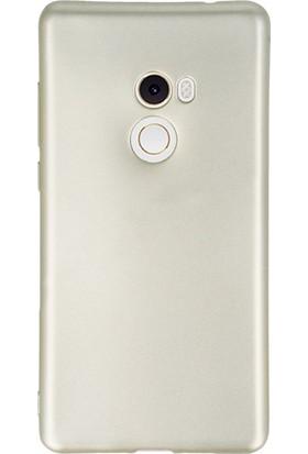 Gpack Xiaomi Mi Mix 2 Premier Silikon Kılıf Beyaz + Ekran Koruyucu Cam