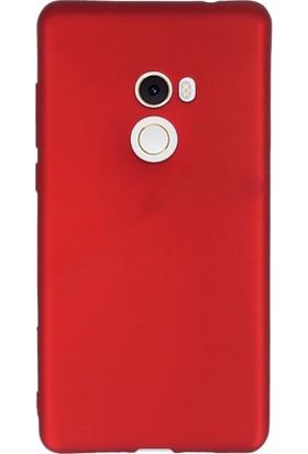 Gpack Xiaomi Mi Mix 2 Premier Silikon Kılıf Kırmızı + Ekran Koruyucu Cam + Kalem