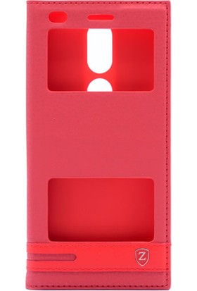 Gpack Casper Via A2 Pencereli Elite Kılıf Kırmızı + Ekran Koruyucu Cam + Kalem