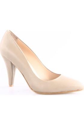 Dgn Kadın 199 Sivri Burun 11 Pont Topuklu Ayakkabı Ten