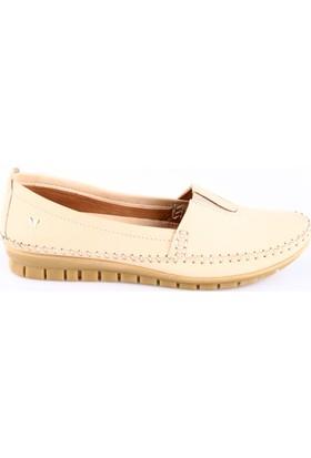İloz Kadın 240028 Saraçlı Günlük Ayakkabı Bej