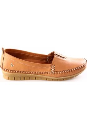 İloz Kadın 240028 Saraçlı Günlük Ayakkabı Taba