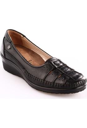 Forelli Kadın 26212 Dolgu Topuk Ayakkabı Siyah