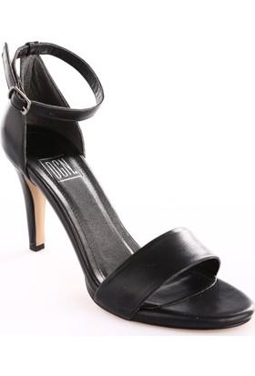 Dgn Kadın 271A Bilekten Bağlı Topuklu Sandalet Siyah